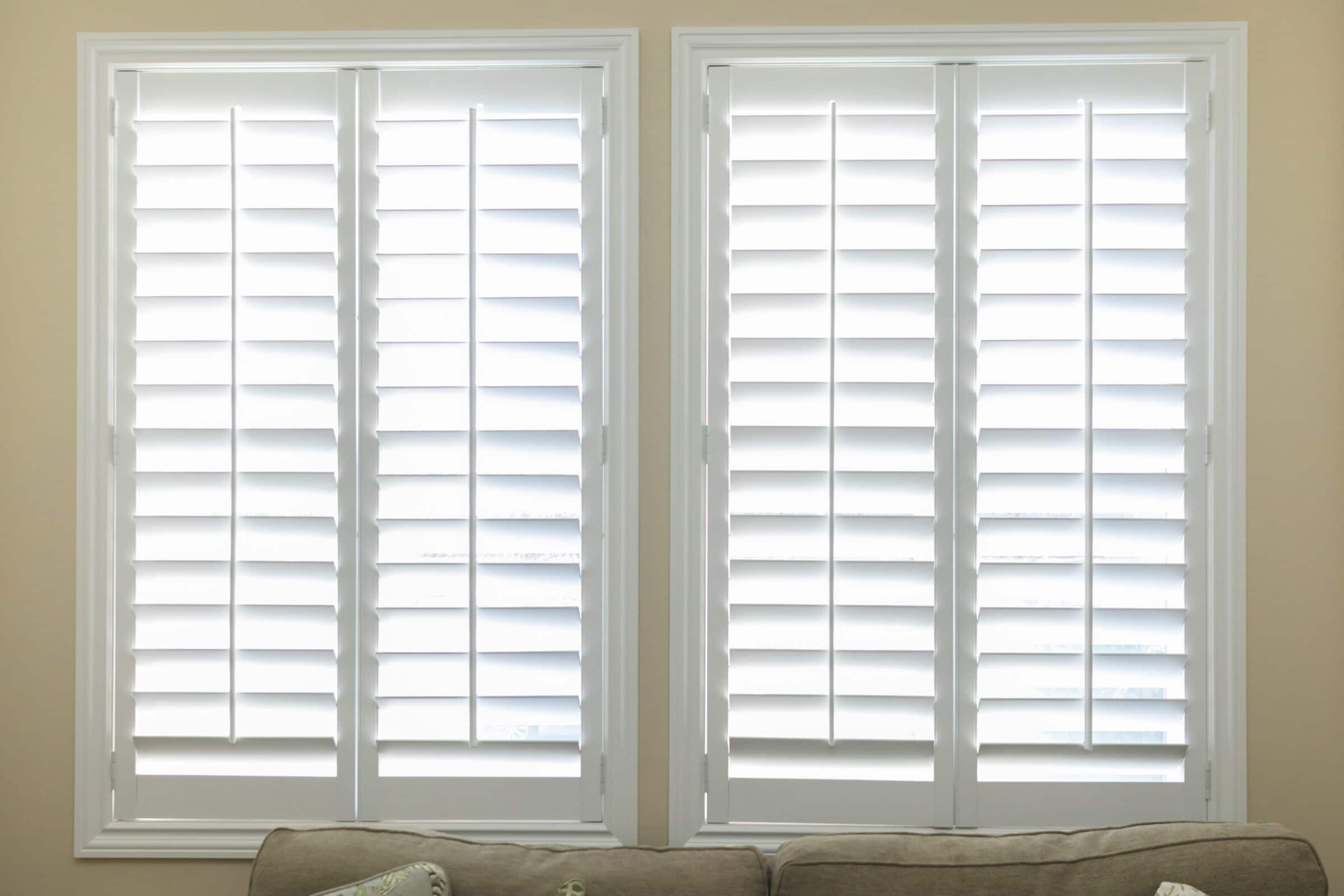Shutters are generally more cost-effective than blinds